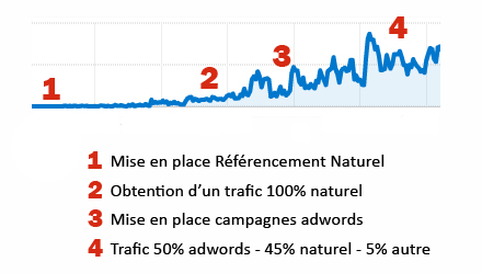 impact avec Google seo et Adwords