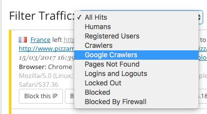Google Crawler Wordfence
