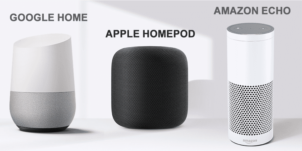 Assistant vocal Google Home - Amazon Echo - APPLE HOMEPOD